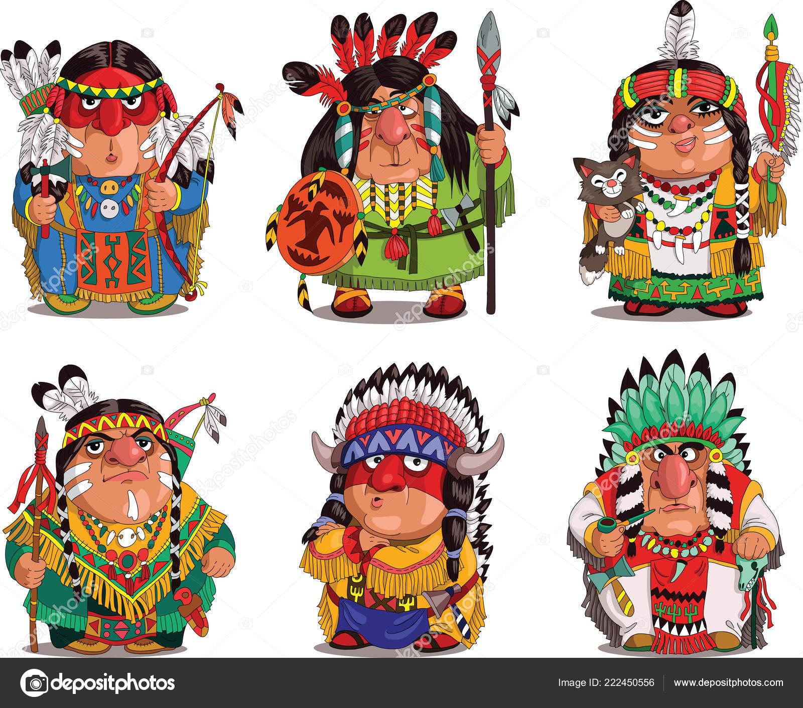 Kresleny Legracni Indiani Stock Vektor C Ellagrin 222450556
