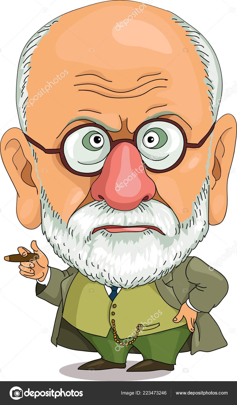 Comic caricature Funny Freud — Stock Vector © Ellagrin ...
