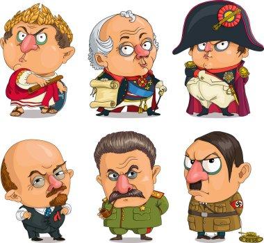 Comic caricature leaders