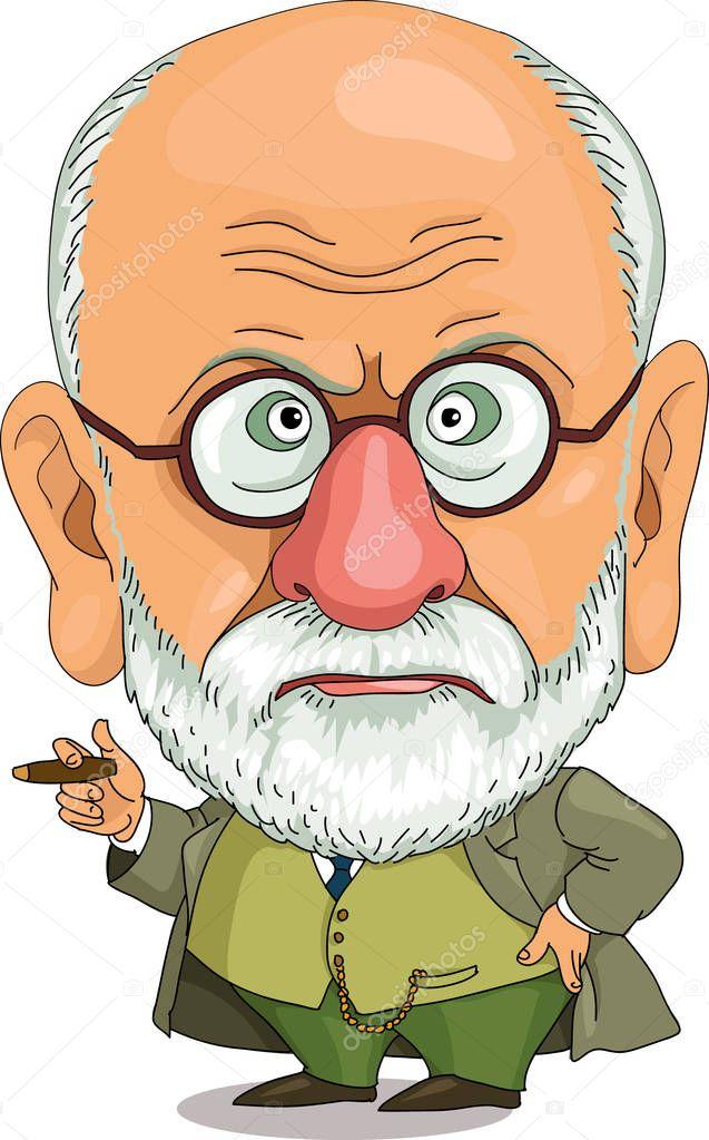 comic caricature Funny Freud