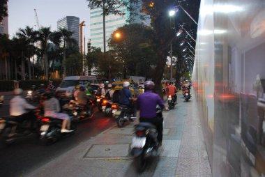 Traffic in streets of Ho Chi Minh City, Vietnam
