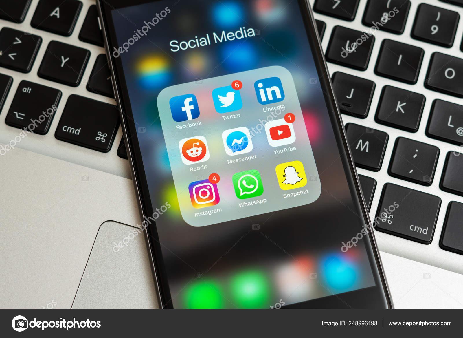 Black Apple Iphone Icons Social Media Instagram Youtube