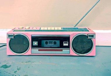 Vintage Hot Pink Cassette Player Radio