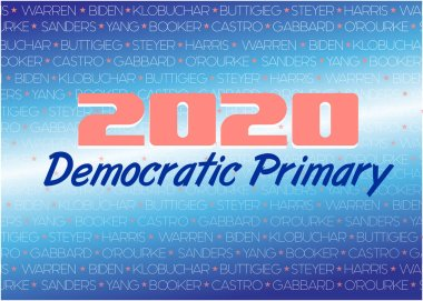 2020 Democratic Primary Illustration with Candidate Names