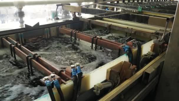 Circuit board manufacturing  Galvanic bath, Engineering production  Circuit  board in galvanic bath in the workflow