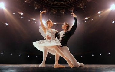 Ballet. Classical ballet performed by a couple of ballet dancers