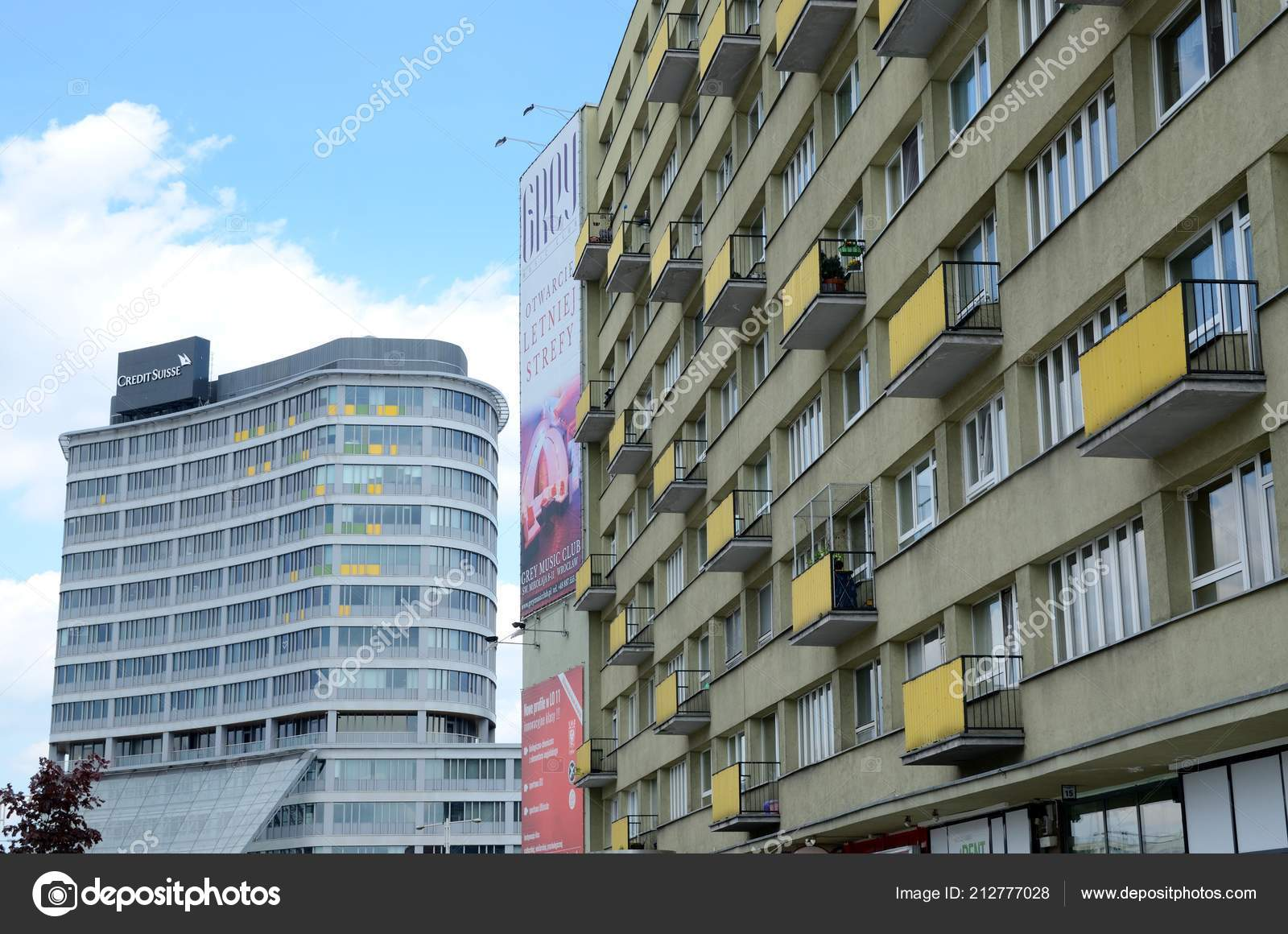 Wroclaw poland may 2017 wroclaw city modern classic architecture new stock photo