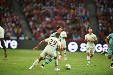 Kallang-Singapore-28Jul2018:Mesut Ozil #10 Player of arsenal in action during icc2018 between arsenal against at paris saint-german at national stadium,singapore