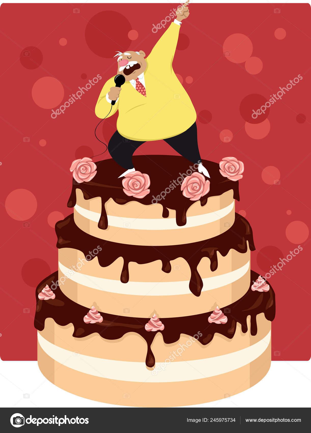 Sensational Funny Birthday Cake For Old Man Funny Old Man Singing Top Tiered Personalised Birthday Cards Vishlily Jamesorg