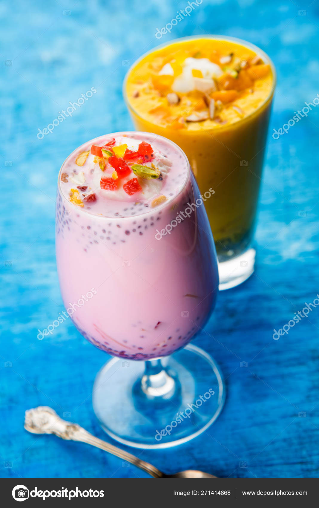 Falooda Faluda Popular Indian Dessert Strawberry Mango Flavoured Which Has Stock Photo Image By C Arundhati Callistainteriors In 271414868