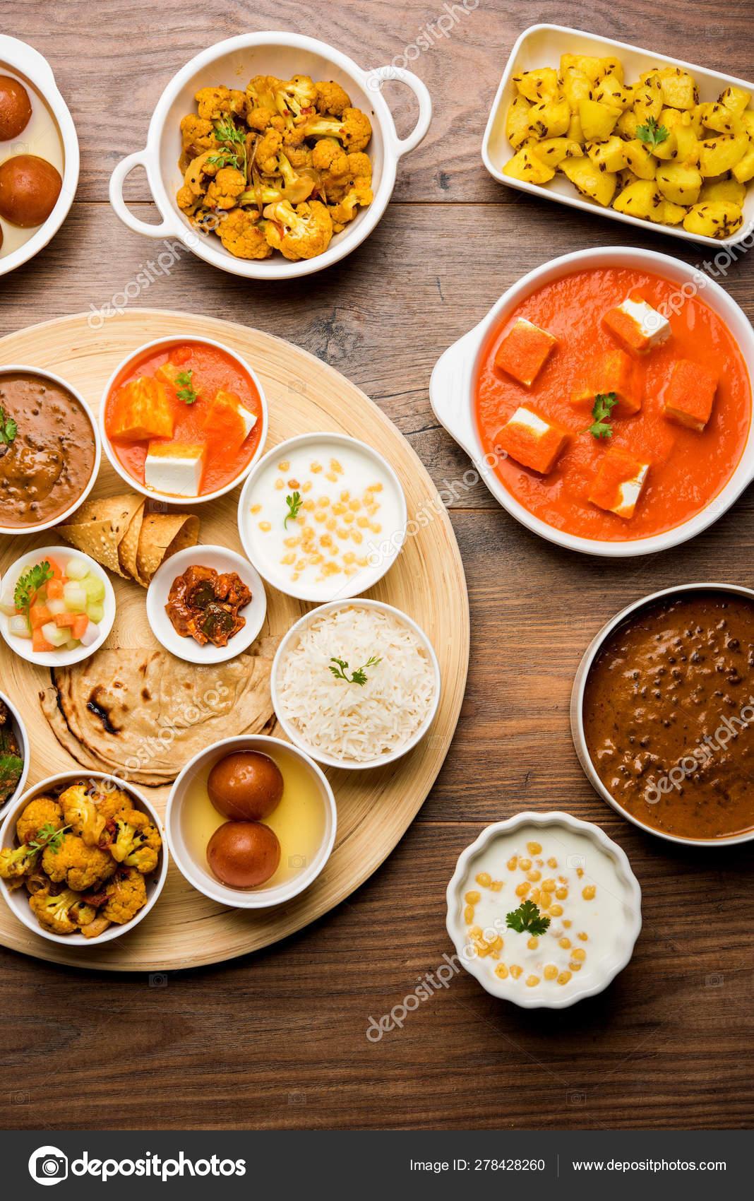 Indian Food Platter Hindu Veg Thali Selective Focus Stock Photo Image By C Arundhati Callistainteriors In 278428260