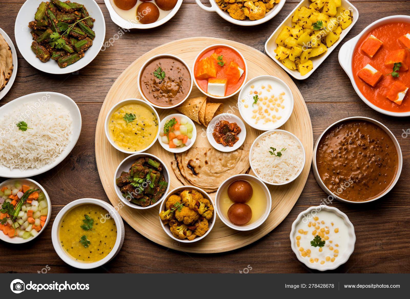 Indian Food Platter Hindu Veg Thali Selective Focus Stock Photo Image By C Arundhati Callistainteriors In 278428678