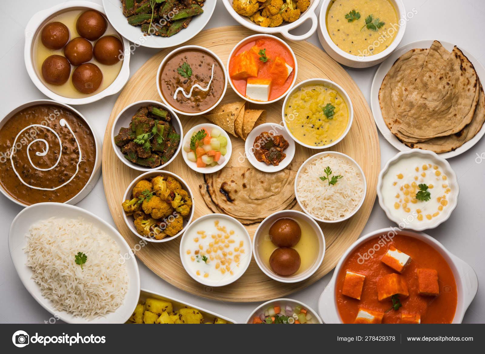 Indian Food Platter Hindu Veg Thali Selective Focus Stock Photo Image By C Arundhati Callistainteriors In 278429378