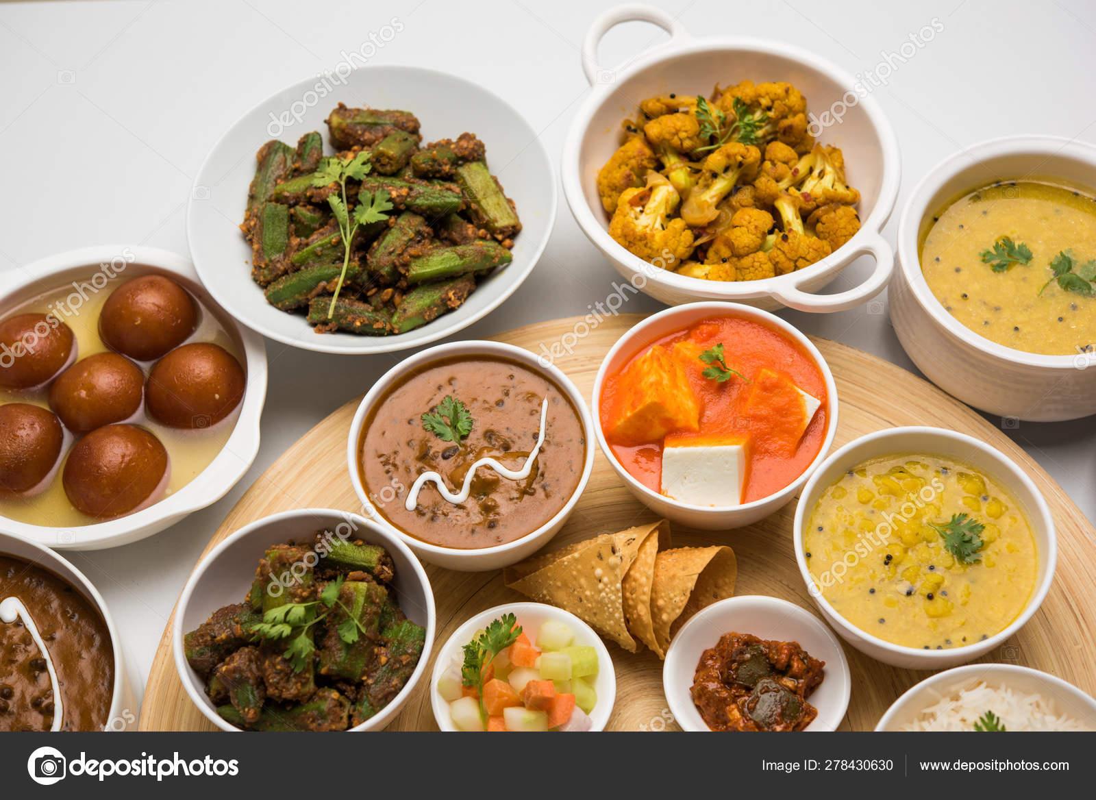 Indian Food Platter Hindu Veg Thali Selective Focus Stock Photo Image By C Arundhati Callistainteriors In 278430630