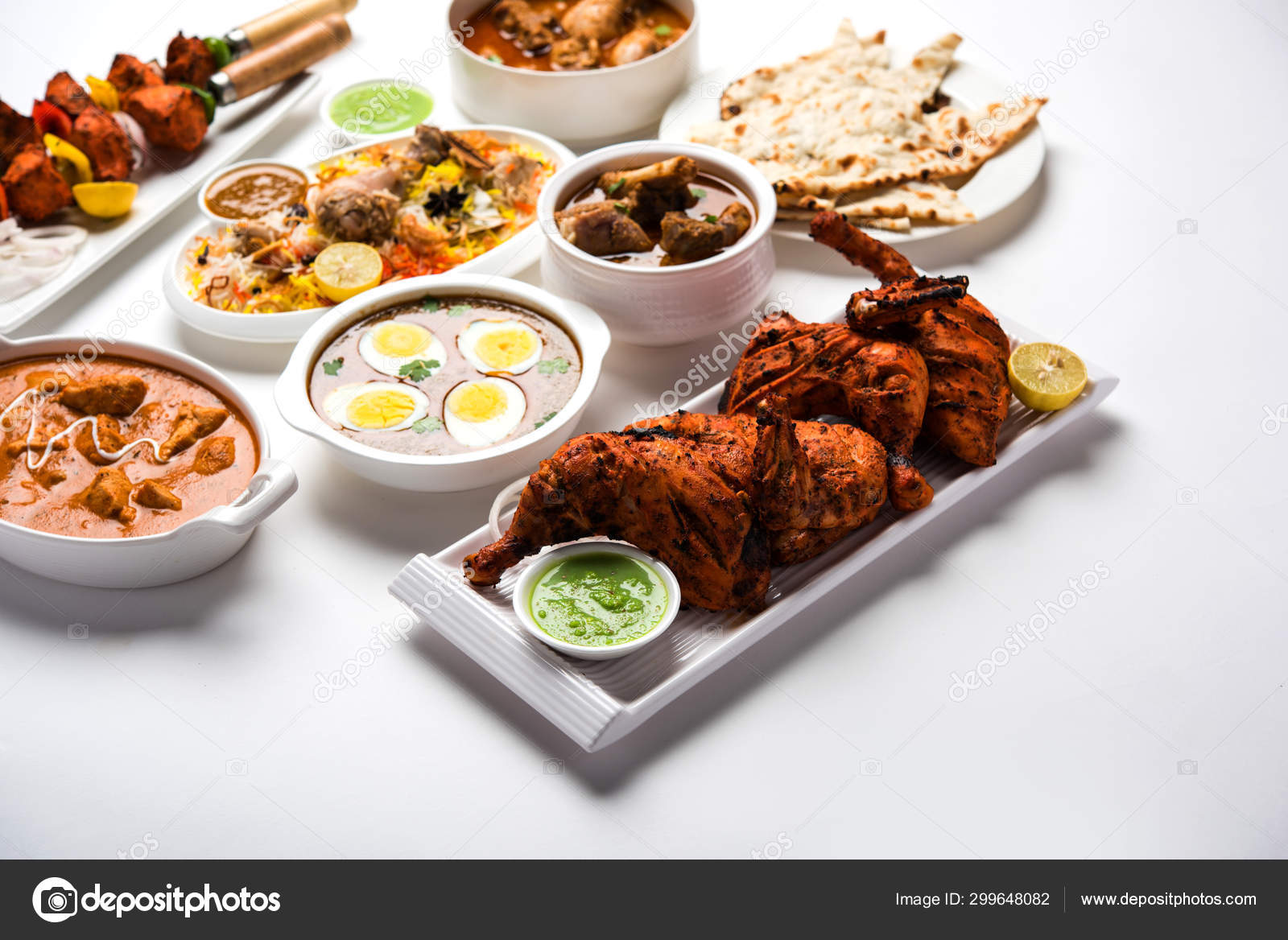 Assorted Indian Non Vegetarian Food Recipe Served Group Includes Chicken Stock Photo C Arundhati Callistainteriors In 299648082