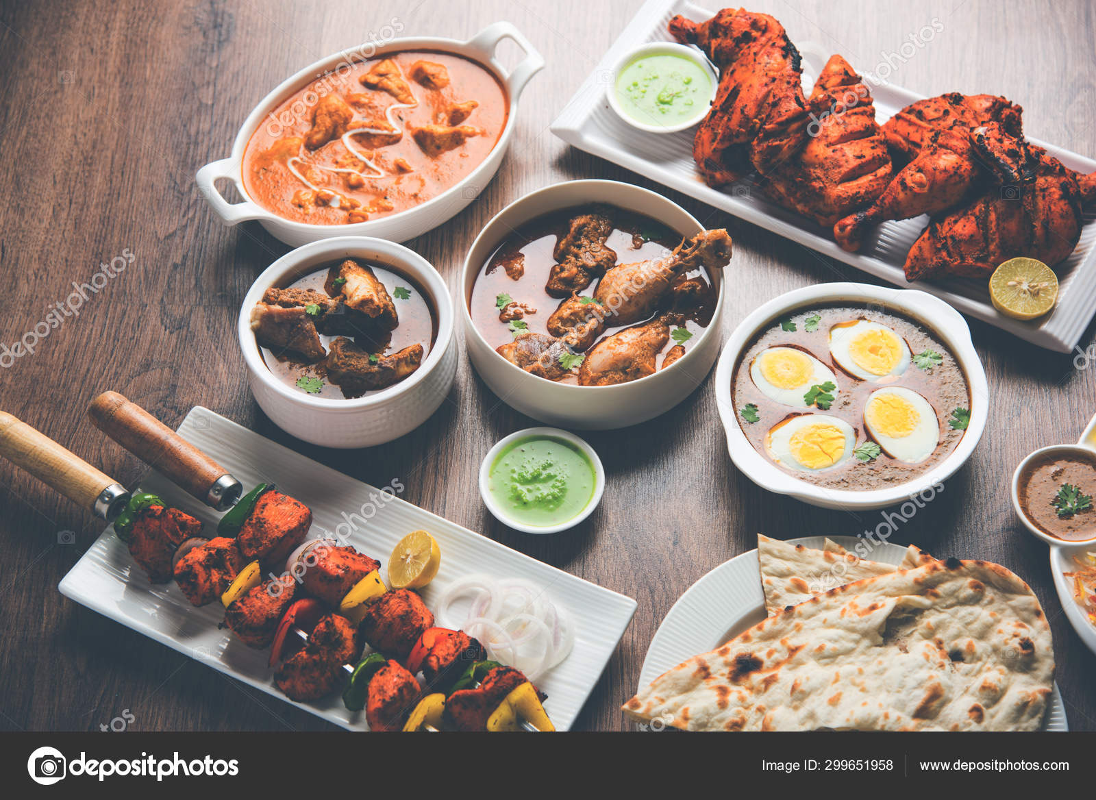 Assorted Indian Non Vegetarian Food Recipe Served Group Includes Chicken Stock Photo C Arundhati Callistainteriors In 299651958