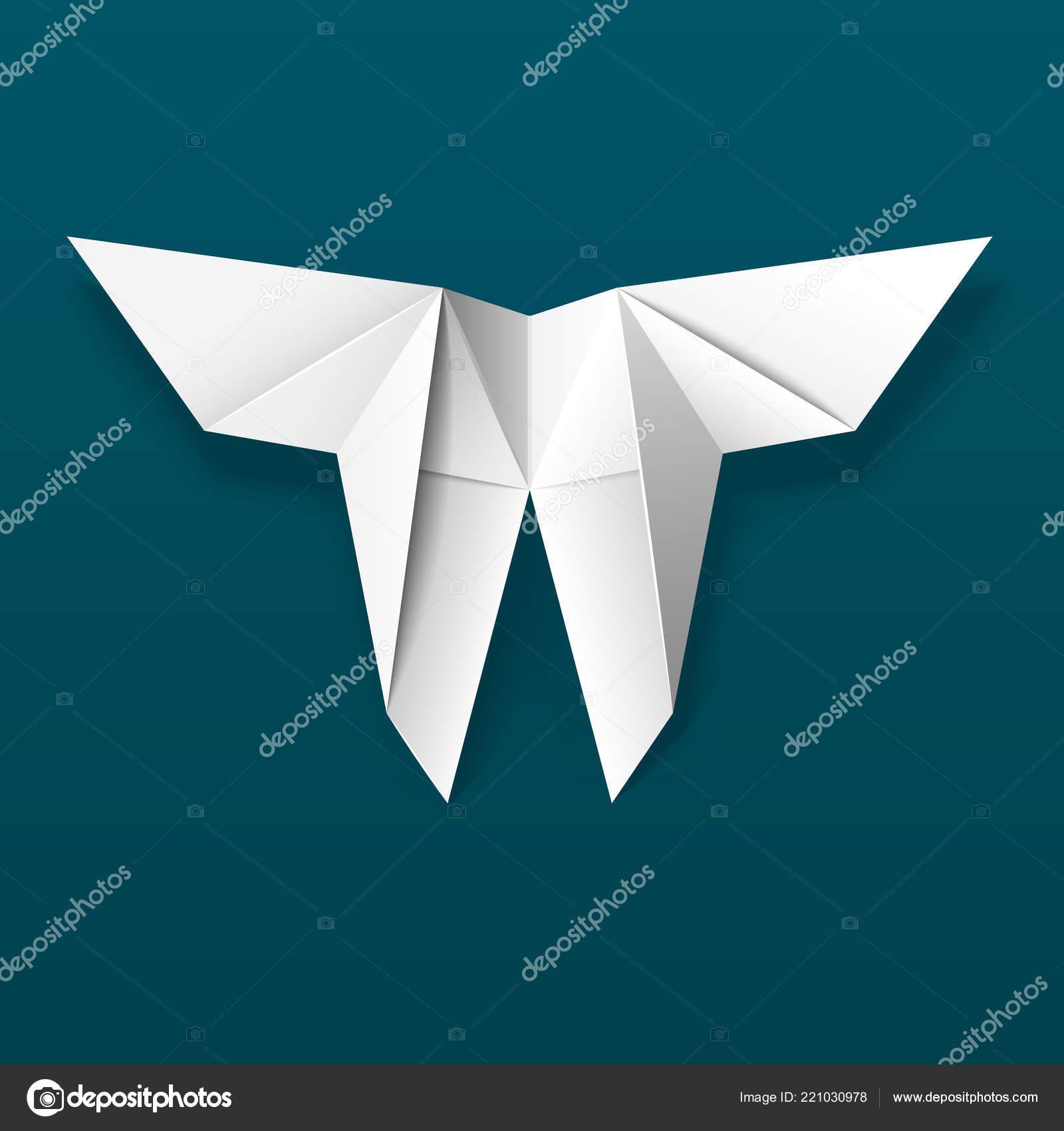 Papillon Origami Blanc Main Art Traditionnel Japonais Pliage