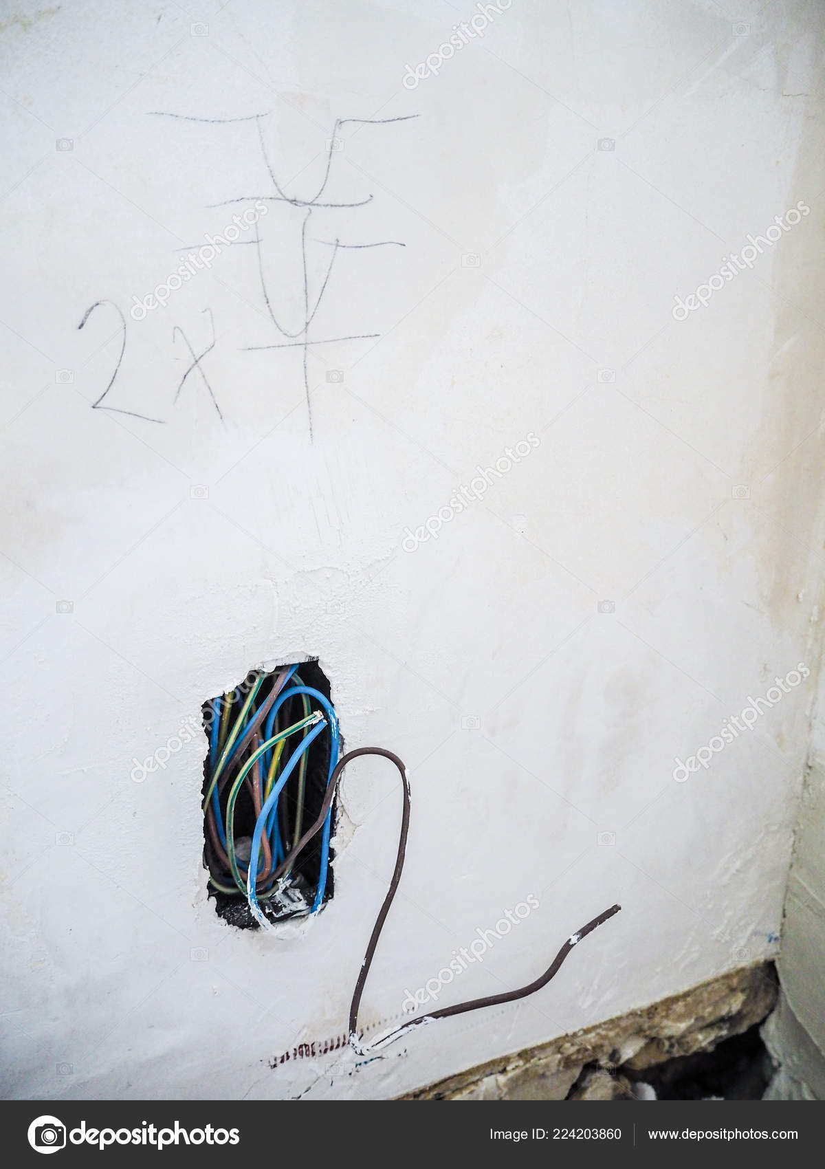 Exposed New Electrical Wiring While Renovating Old House ... on