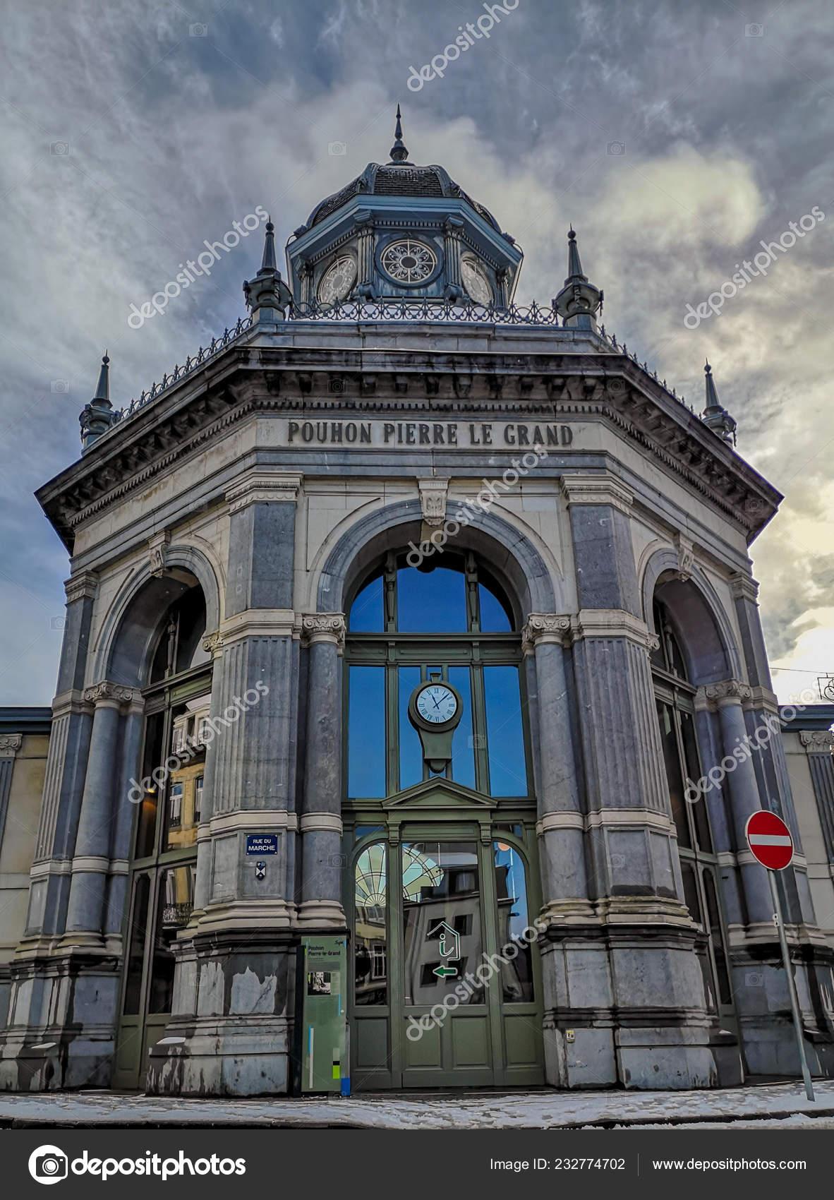Fassade Der Feder Von Pierre Grand Spa Belgien Die Derzeit