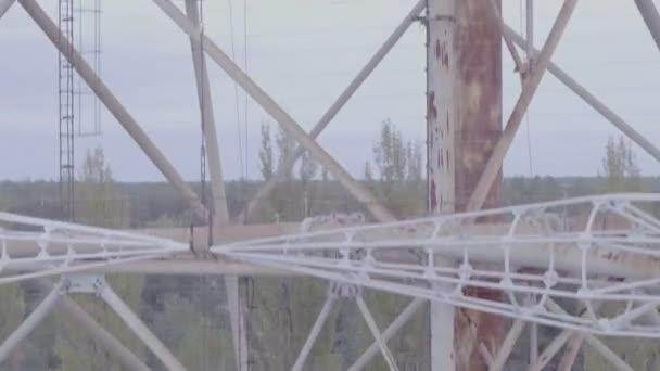 Légifelvételek Duga-1 tömb belül thechernobyl kizárását övezetben. Duga volt Sovietover-a-horizonused a Sovietmissile defenseearly figyelmeztető radarnetwork részeként