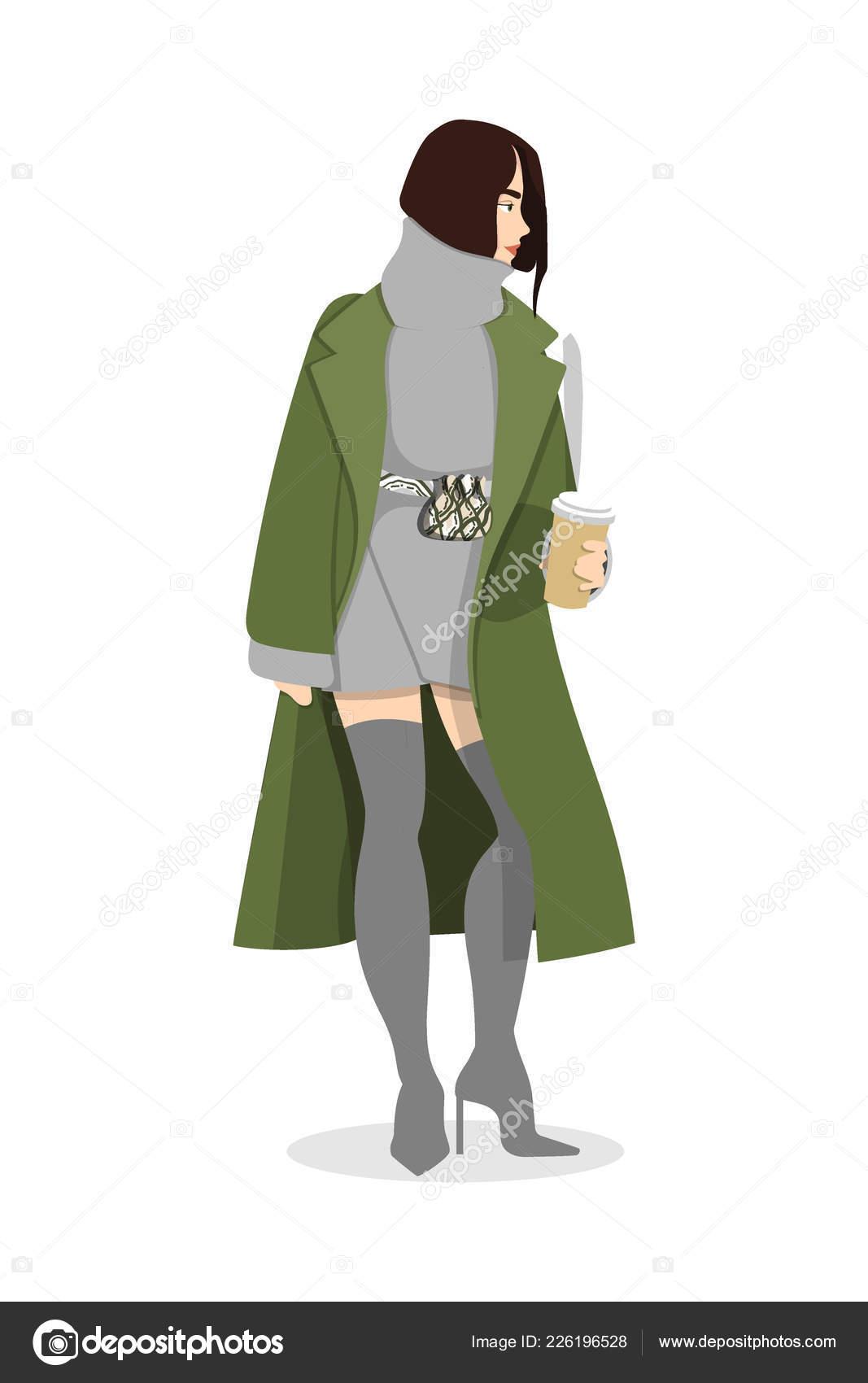 1200c4daa Mujeres vestidas con ropa de moda elegante - ilustración de moda ...