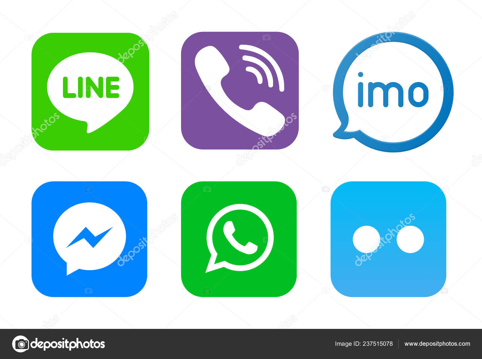 Like and Chat speech bubble sign  Line logo, Viber logo, imo