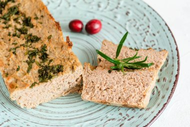 Chicken pate with cranberries for Christmas.