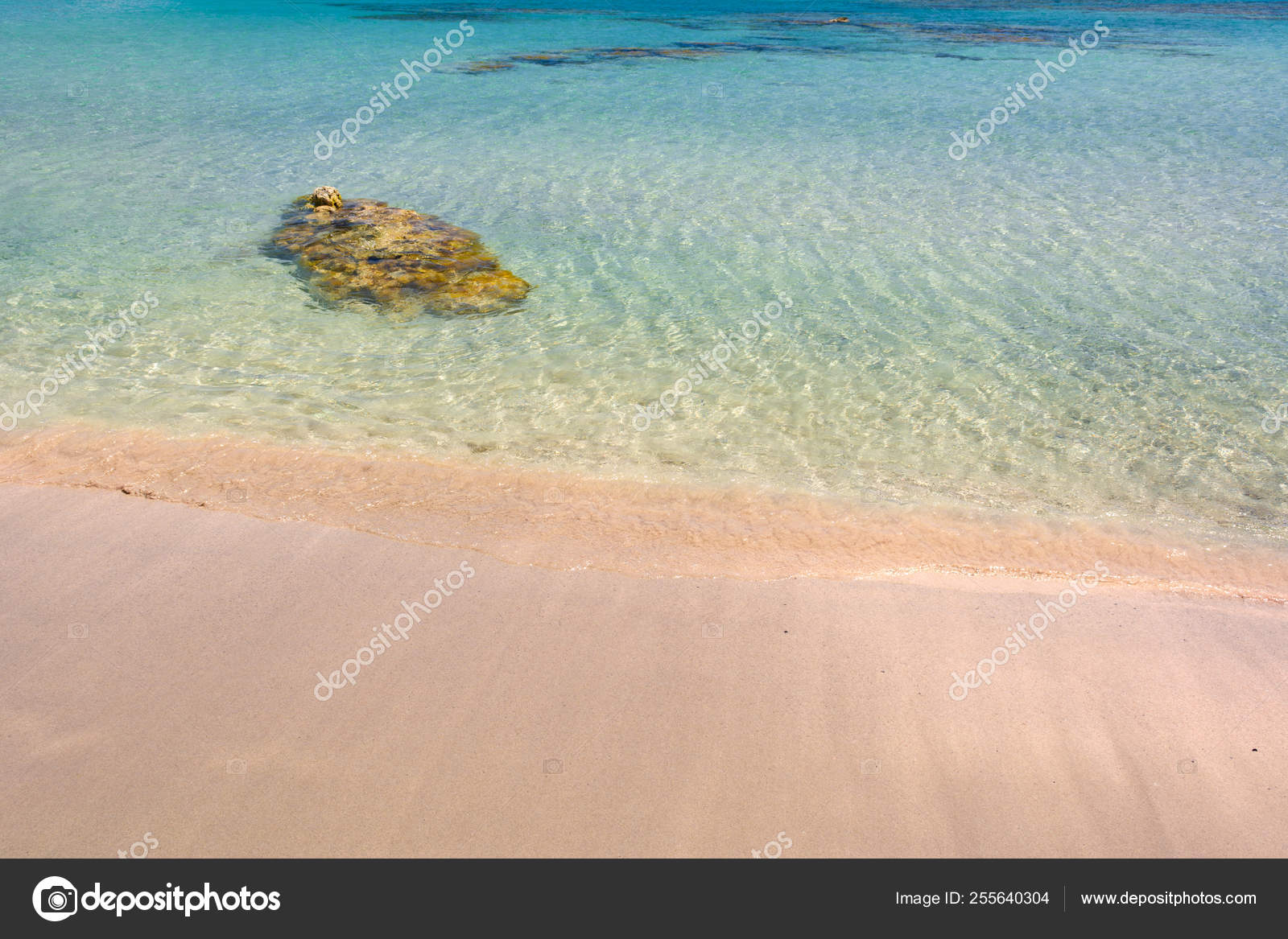 Elafonisi Beach With Pink Sand Warm And Crystal Clear Water