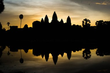 The sun is rising in the morning at Angkor Wat, Siem Reap, Cambodia
