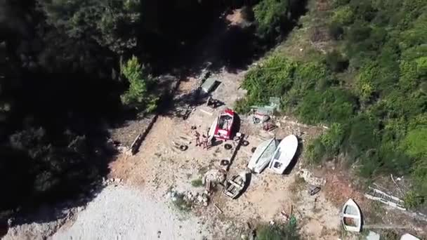 Aerial footage of island Korcula in Croatia. Perfect Summer destination.