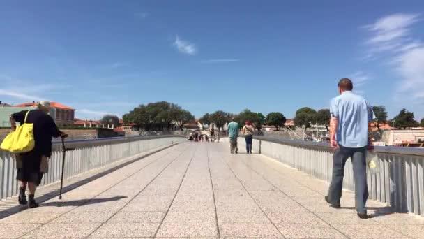 Pohled na most ve městě Zadar v Chorvatsku.