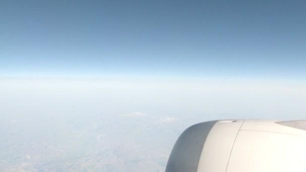 Okně pohled z letadla