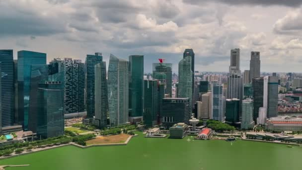 Aerial Timelapse of Singapore city at 4K