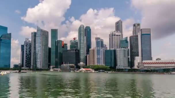 Panoramic View Timelapse at Singapore city at 4K