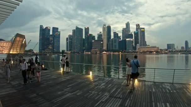 SINGAPORE 14 APR 2018:  Skyline of singapore, late afternoon, timelapse