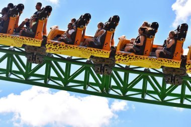 Tampa, Florida; September 29,2018. At a length of 4,400 feet, Cheetah Hunt is the parks longest thrill ride attraction at Bush Gardens..