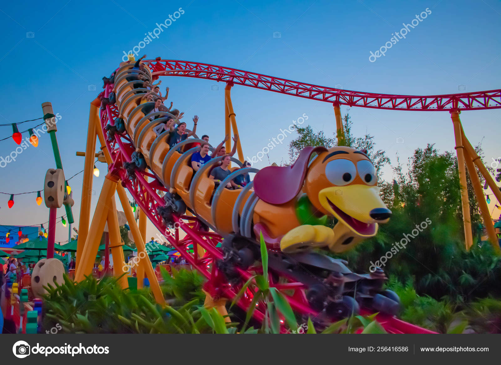 Orlando Florida March 2019 Slinky Dog Dash Rollercoaster Toystory