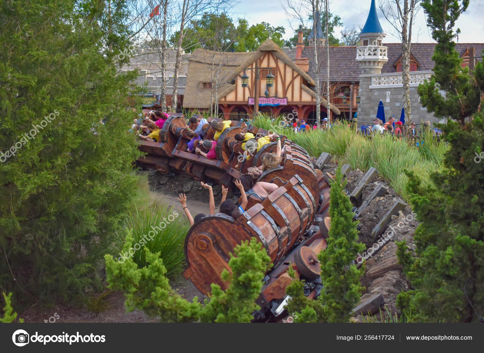 Orlando Florida March 2019 People Enjoying Seven Dwarf Mine