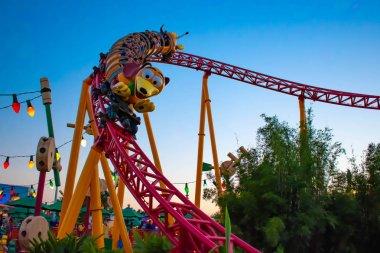 Orlando, Florida, March 27, 2019. Slinky Dog Dash rollercoaster in Toystory land at Hollywood Studios in Walt Disney World (1)