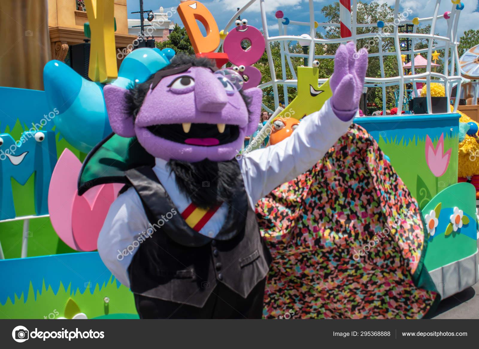 Orlando Florida August 2019 Count Von Count Sesame Street
