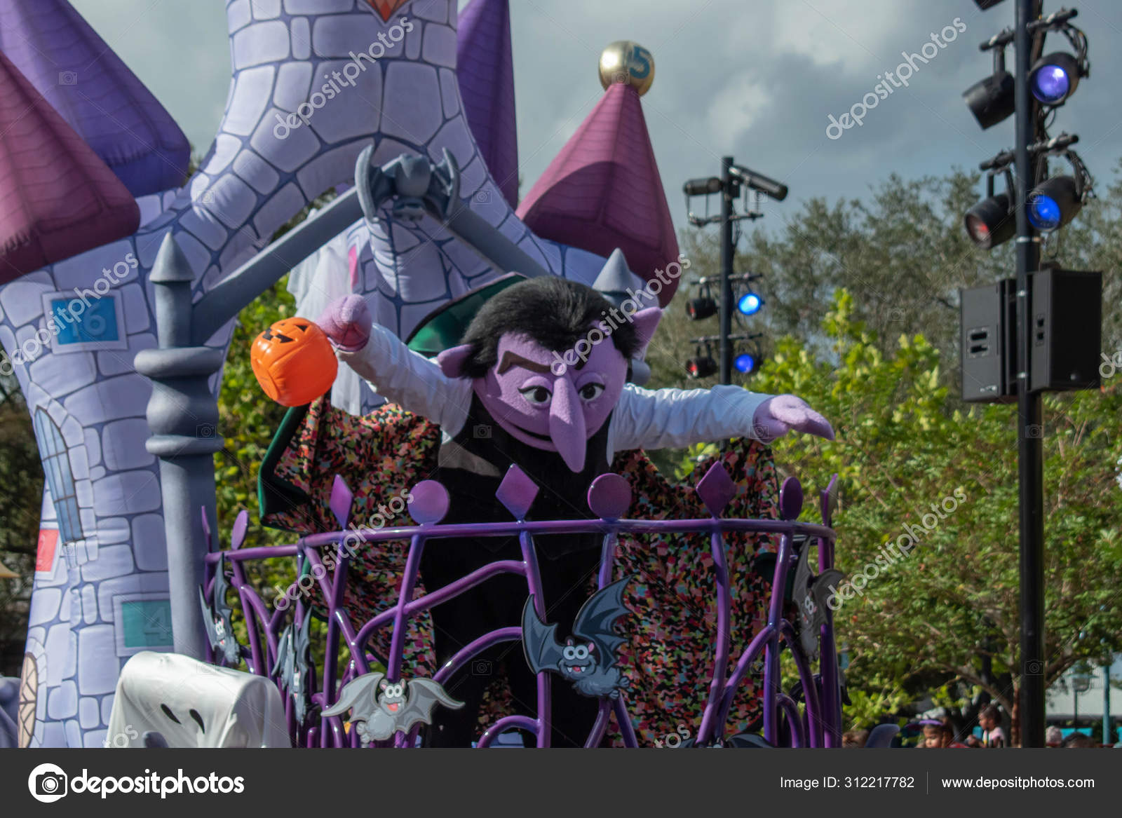 Orlando Florida October 2019 Count Von Count Halloween