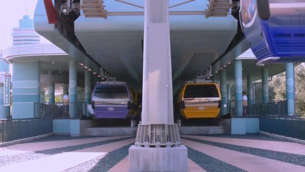 Orlando, Florida. September 27, 2019. Disney Skyliner Station at Walt Disney World area, (2).