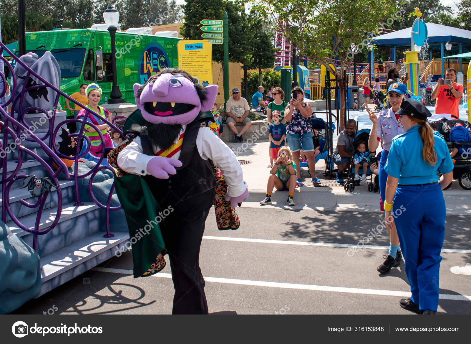 Orlando Florida October 2019 Count Von Count Police Woman