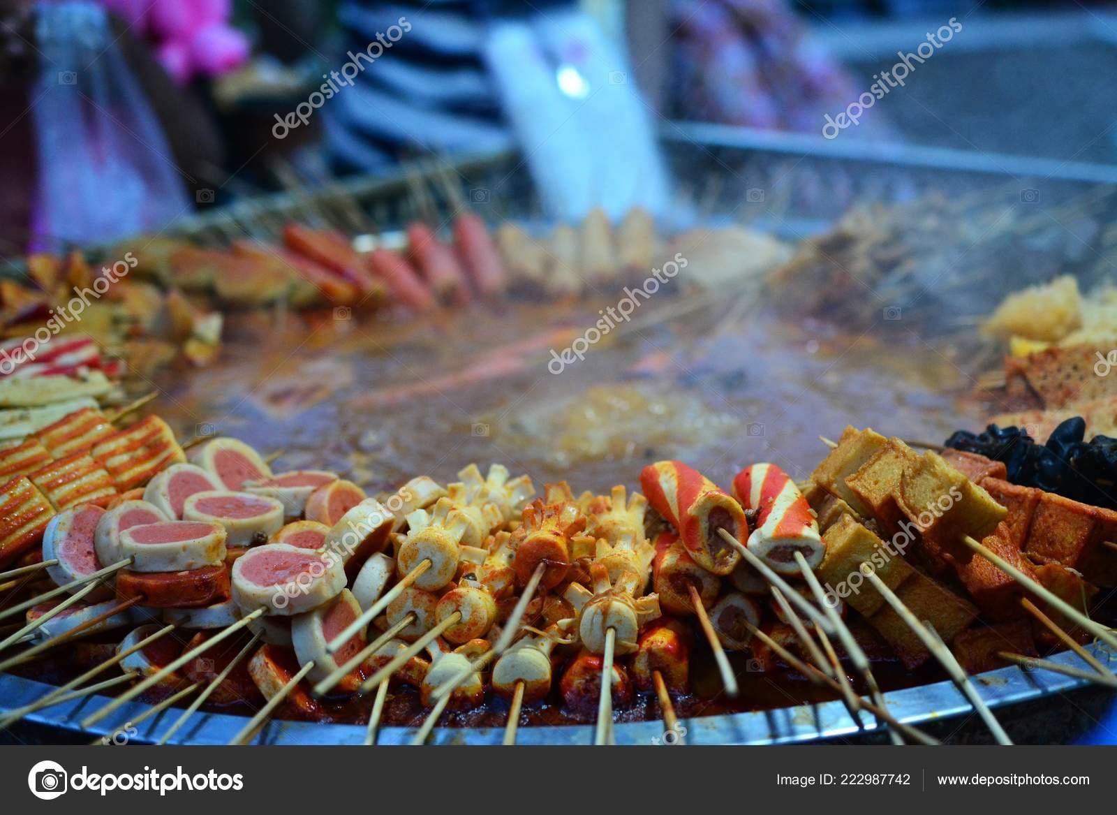 Hotpot skewers, malatang, Chinese food, Xinjiang Uyghur delicacies
