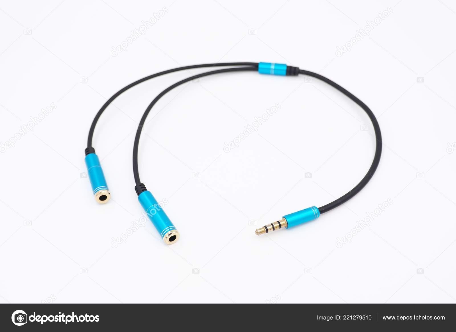Adapter Audio Klinkenstecker Männlich Dual Buchse Weiblich