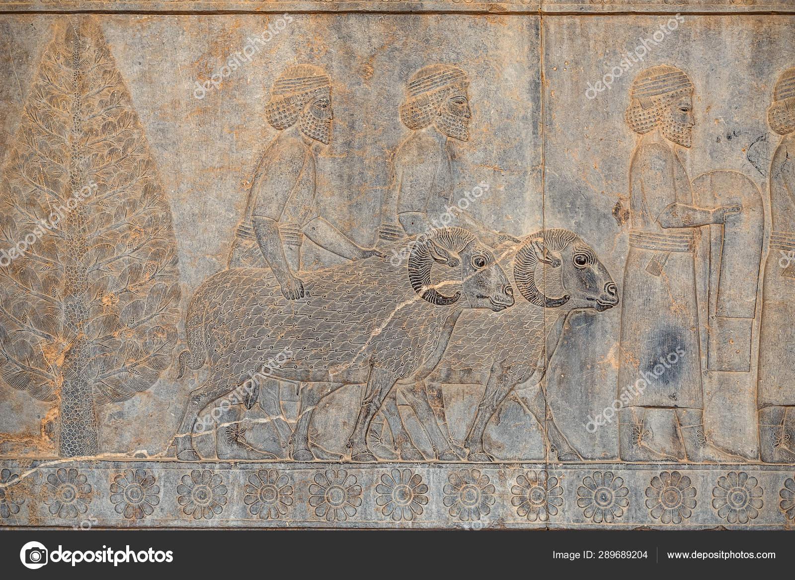 Ancien Inscriptions Walls Persepolis Ancient Capital Old Persian Achaemenid Empire Stock Photo C Leshiy985 289689204
