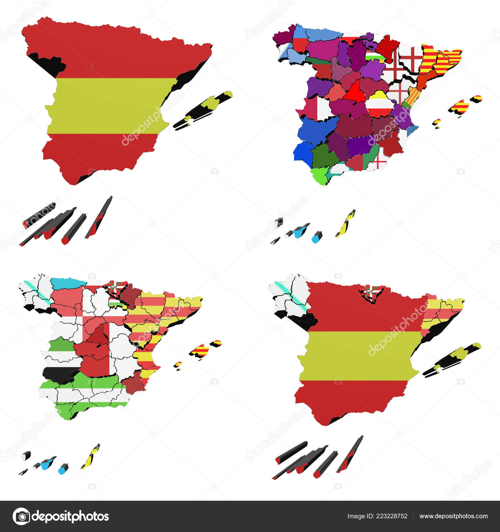 Spain Map Of Provinces.Map Spain Flags Both Spain Provinces Autonomous Communities Also See