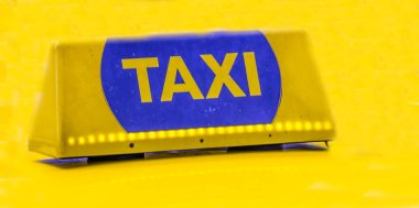 Taxi letter in golden background