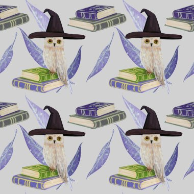Gouache magic with owl