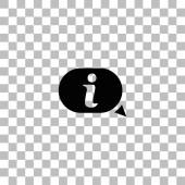 Informační ikona plochý